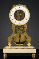 French Louis XVI Skeleton Clock, Robert Robin