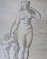 Engraving: Venus and Eros
