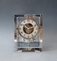 Mooi type Atmos klok, chroom no 5634, Jean Leon Reutter, circa 1930.