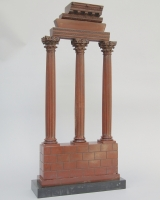 Marble model of the temple of Castor and Pollux