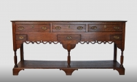 English potboard dresser, 18th century.