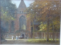 Large church square in Dordrecht