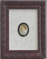 Keizerportretten in parelmoer: Vitellius en Galba