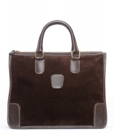 Gucci Brown Suede Leather Handbag