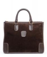 Gucci Brown Suede Leather Handbag