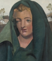 Lady with a green shawl