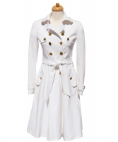 Dolce & Gabbana Trench Coat in Wit Katoen