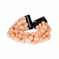 evaNueva Six Row Coral Bracelet