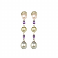 Buchwald 18 Carat White Gold Pearl Earrings