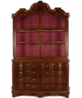 A Louis XIV Teak Display Cabinet