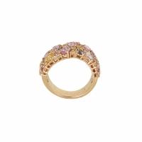 Artur Scholl 18 Karaat Rosé Gouden Ring Multi-Color