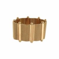 18 Carat Pink Gold Woven Bracelet