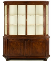 A Dutch Display Walnut Display Cabinet