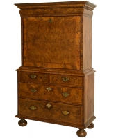 A Queen Anne Walnut and Burr-Walnut Escritoire