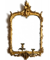 A Dutch Ormolu Mounted Gilwood Girandole