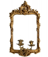A Mid 18th Century Carved Giltwood Mirror