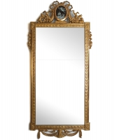 A Rectangular Dutch Louis XVI Giltwood Mirror