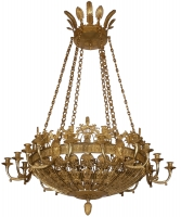 A Fire Guilded Bronze Eighteen-Lights Russian Empire Chandelier