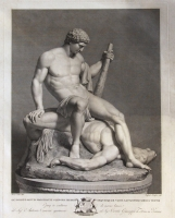 Theseus and the slain Minotaur