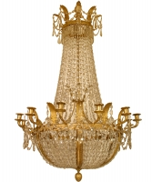 An Empire French Twelve-lights Chandelier