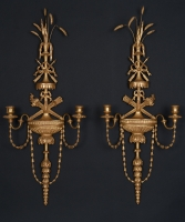 A Pair of Louis XVI  Twinlight Wall Appliques