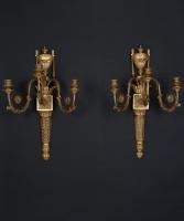 Een Paar  Appliques in Louis XVI-stijl