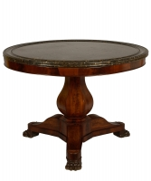 A Mahogany Charles X Center Table