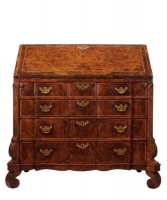 A Dutch Walnut and Burr-Walnut Bureau