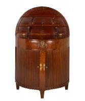 A Dutch Mahogany Demi-Lune Side Cabinet