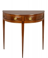 Dutch Mahogany Demilune Side Table