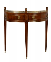 A Dutch Mahogany Demilune Side Table