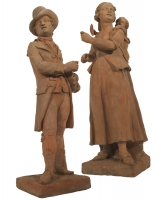 A Couple of Street Musicians in Terracotta