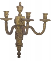 A Pair of Louis XVI Three-Branch Wall-Lights