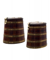A Pair Mahogany Herringbarrels