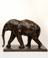 A Bronze White Elephant