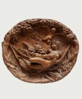 Een Terracotta Reliëf