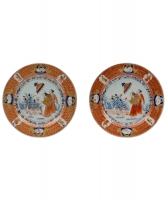 A Pair of Pronk Dishes depicting