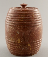 A Brown Marble Tobaccojar with Lid
