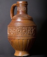 Stoneware Jar Jar with scènes from Susanna and the Elders