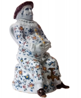 A Figural Cistern and Cover in Polychrome Dutch Delftware