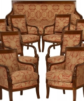 A Mahogany French Empire Suite
