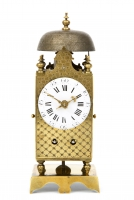 A miniature French table lanternclock, circa 1790