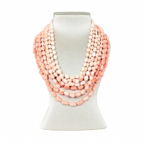 evaNueva Eight Row Coral Necklace