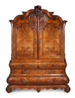 Dutch Louis Quinze cabinet