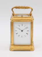 A rare French 'bottom wind' carriage clock, Leroy & Fils, circa 1880