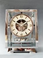 A fine Art Deco model Atmos clock, chrome  no 5227, by Jean Leon Reutter, circa 1930