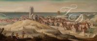 Landschap met gezicht op Egmond aan Zee - Claes Jacobsz van der Heck