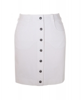 Chanel White Cotton Mini Jeans Skirt