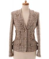 Chanel Multicolor Fantasy Tweed Fringed Jacket 04P