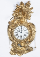 French 18th Century Louis XV bronze wall cartel clock circa 1745